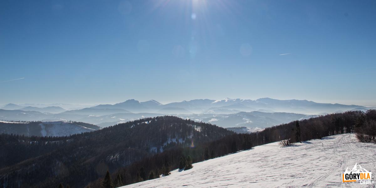 Mała Fatra widziana zMałej Raczy (1153 m)