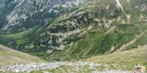 Widok z Bystrej (2248 m) w dół do Doliny Gaborowej