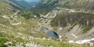 Bystre plesa w Dolinie Bystrej pod szczytem Bystrej (2248 m)