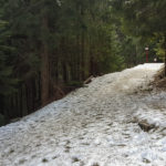 Oznaczenia traas narciarskich i pieszych na Halę Kondratową