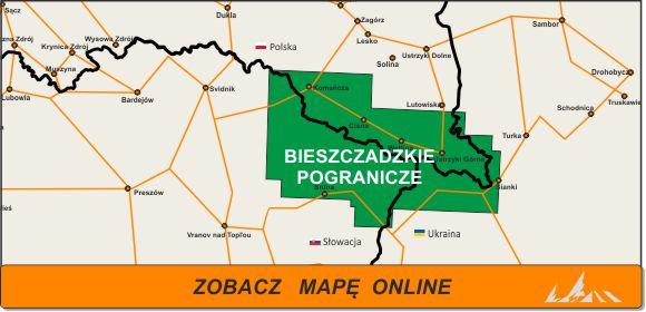 Mapa zakres Bieszczadzkie Pogranicze