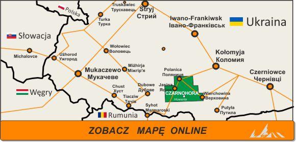 Mapa zakres Czarnohora