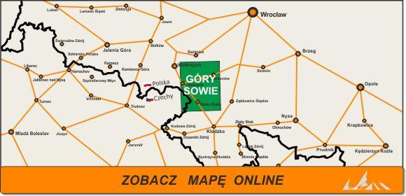 Mapa zakres Góry Sowie