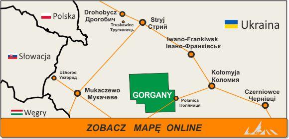 Mapa zakres Gorgany