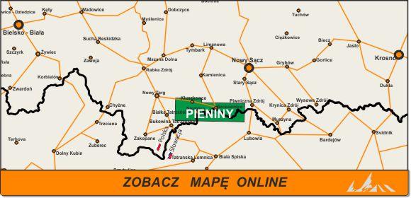 Mapa zakres Pieniny