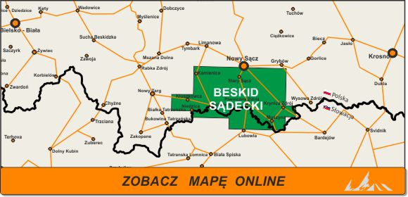 Mapa zakres Sądecki