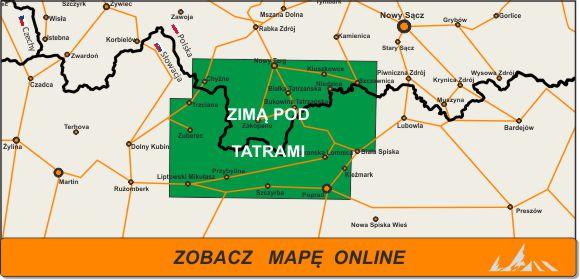 Mapa zakres Zimą PodTatrami