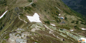 Siwa Przełęcz (1812 m) i Siwe Turnie i Siwe Stawki