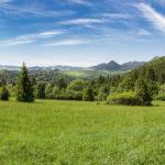Panorama Tatr i Pienin Właściwych znad Przełęczy Cerla (610 m)