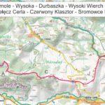 Jaworki - Czerwony Klasztor mapa