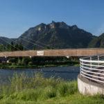 Most pieszy i rowerowy na Dunajcu między Sromowcami Niżnymi, a Czerwonym Klasztorem