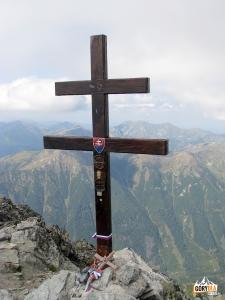 Krzyż lotaryński na szczycie Krywania