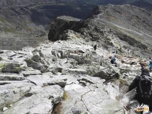 Zejście ze szczytu Krywania