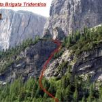 Dolny odcinek ferraty Brigata Tridentina