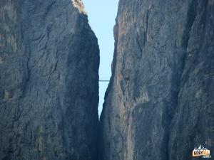 Mostek na trasie ferraty