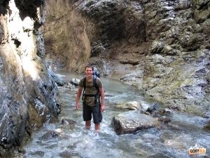 Turystyczna (wodna) część Mauthner Klamm