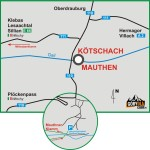Schemat dojazdu do Mauthner Klamm
