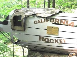 "Miejsce katastrofy Liberatora. B-24 J ""California Rocket"""
