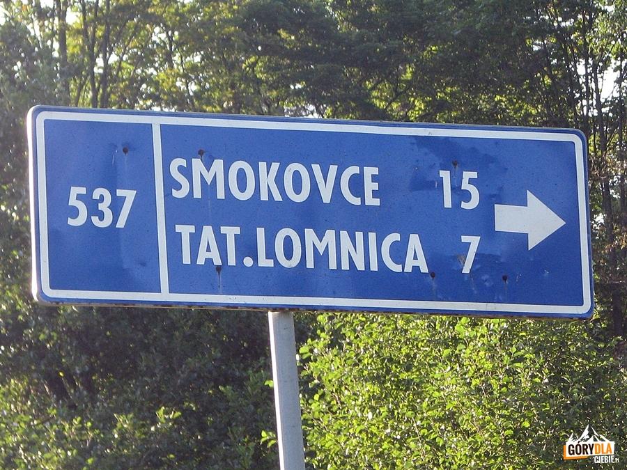 Dojazd w rejon Szczyrbskiego Jeziora (Štrbské Pleso),