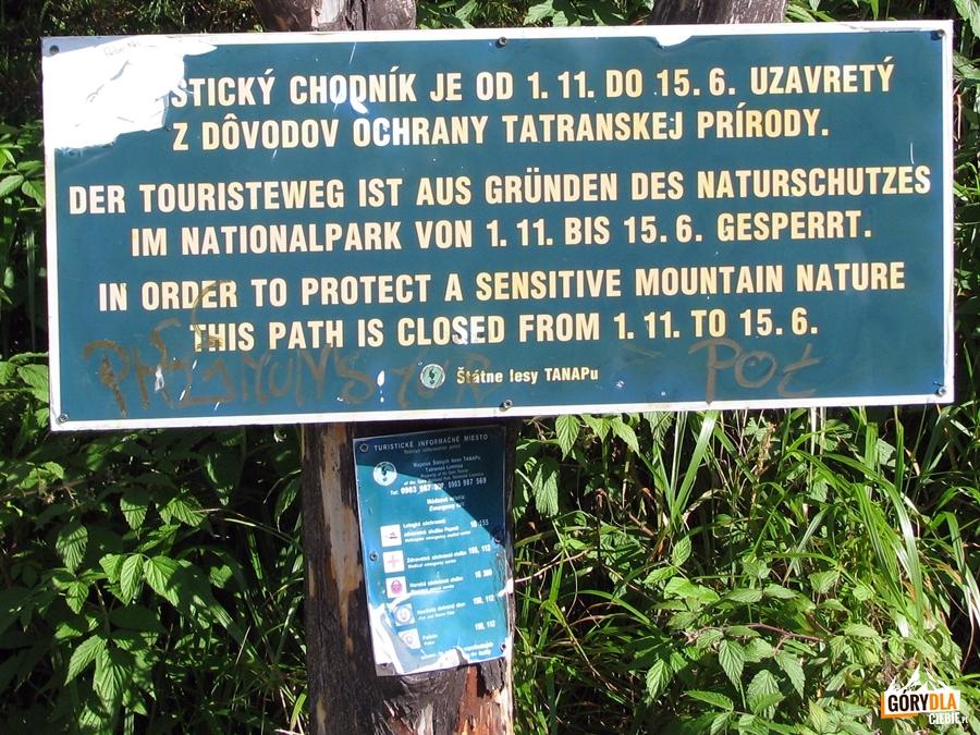 Dolina Młynicka – tablica informacyjna