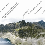Panorama z Bystrej Ławki 2300 m n.p.m. w stronę Krywania
