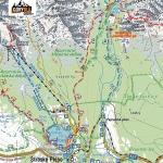 Szczyrbskie Jezioro i Symboliczny Cmentarz pod Osterwą, mapa