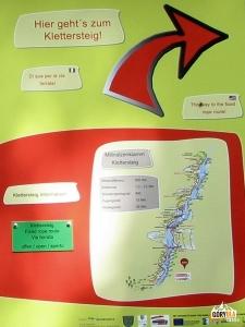 Millnatzenklamm Klettersteig - tablica informacyjna
