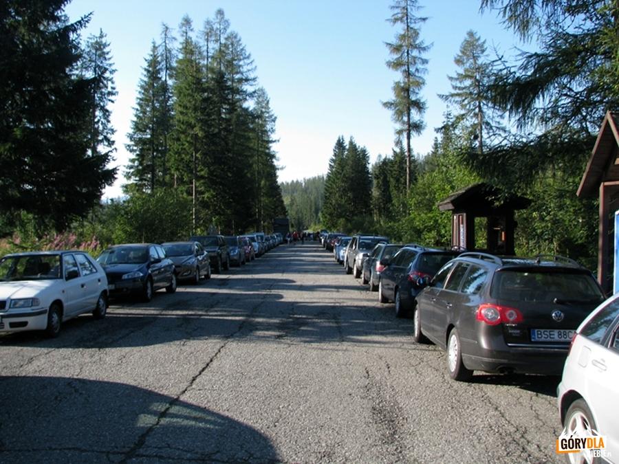 Parking w Popradzkim Jeziorze (Popradské pleso)