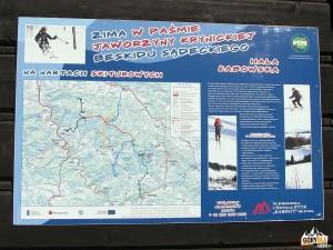 Szlaki narciarskie na Hali Łabowskiej