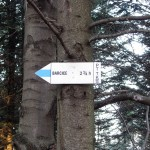 Skrzyżowanie szlaków pod Makowicą