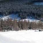Polana Kopieniec widziana ze szczytu Kopieńca