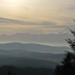 Panorama Tatr z drogi na Czyrniec