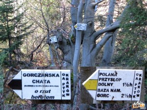Droga do Gorczańskiej Chaty