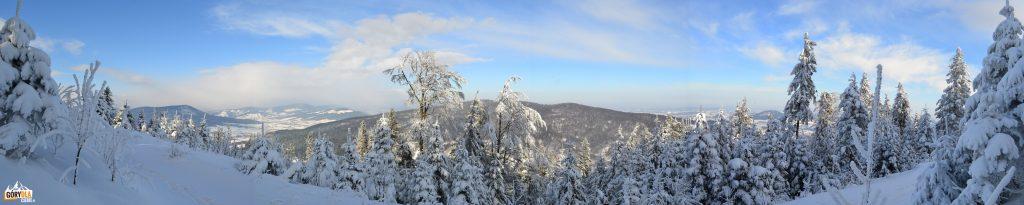 Panorama Śnieżnicy z podejścia na Ćwilin
