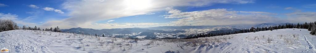Panorama 180 st. z Ćwilina na południe