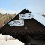 Tablice informacyjne na Przełęczy Gruszowiec