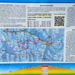 Tablica informacyjna trasy narciarstwa biegowego z Obidowej na Turbacz