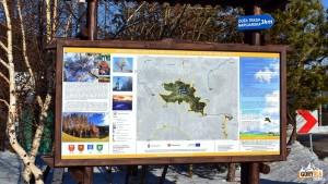 Tablica informacyjna na Przełęczy Rydza - Śmigłego
