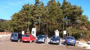 Parking na Przełęczy Rydza - Śmigłego
