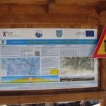 Tablica informacyjna narciarskiej trasy biegowej z Obidowej na Turbacz