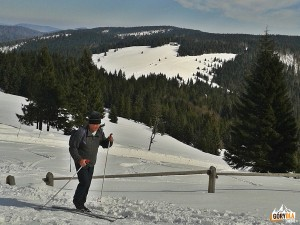 Narciarska trasa biegowa z Obidowej na Turbacz - na Hali Turbacz