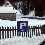 Parking w Obidowej - narciarska trasa biegowa z Obidowej na Turbacz