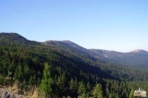 Widok zSokolicy nagrań Babiej Góry