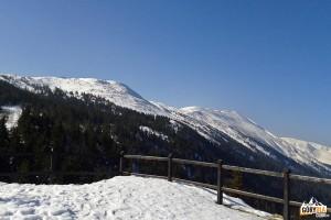 Widok z Sokolicy na grań Babiej Góry