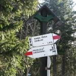 Skrzyżowanie szlaków nad Sokolicą 1367 m