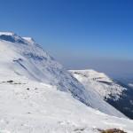 Babia Góra 1725 m i za nią Mała Babia Góra 1515 m