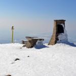Obelisk i ołtarz polowy na Szczycie Babiej Góry 1725 m