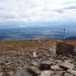 Widok z Babiej Góry 1725 m na Jezioro Orawskie i Małą Fatrę