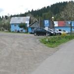 """Parking przed wejściem do Rezerwatu """"Biała Woda"""" w Jaworkach"""