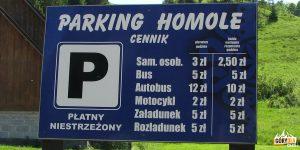 Parking Homole - ceny 2018
